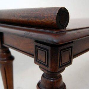 Antique Victorian Mahogany Bench