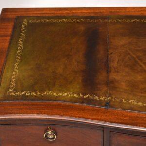 Antique Victorian Mahogany Leather Top Desk
