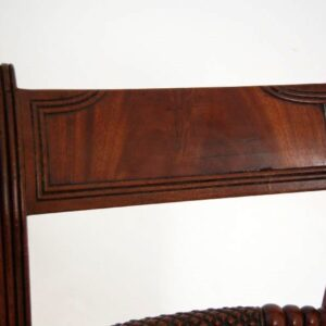 Antique Regency Mahogany Window Seat Stool