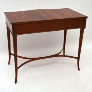 Antique Regency Style Mahogany Console Table