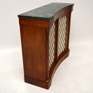 Antique Inlaid Rosewood Marble Top Cabinet - Sideboard Chiffonier