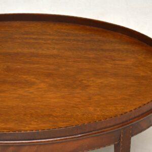 Antique Inlaid Mahogany Coffee Table