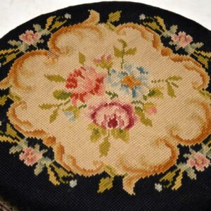 Pair of Antique French Needlepoint Foot Stools
