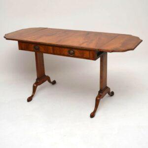 Pair of Antique Burr Walnut Sofa Tables