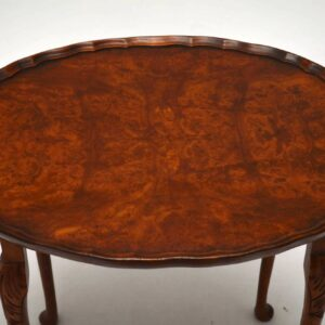 Antique Walnut Pie Crust Nest of Tables