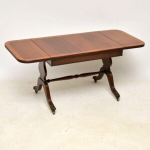Antique Regency Style Mahogany & Walnut Coffee Table
