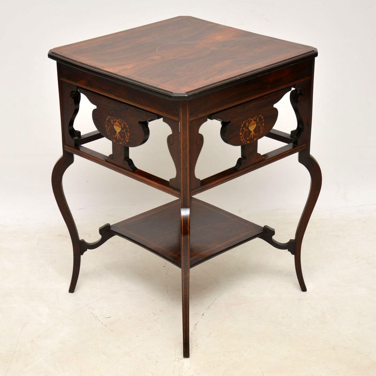 Antique Victorian Inlaid Rosewood Occasional Table