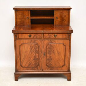 Antique Georgian Style Mahogany Cupboard Bureau