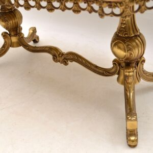 Antique French Brass & Onyx Coffee Table