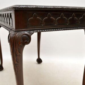 Antique Mahogany Chippendale Style Side Table