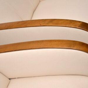 Pair of Swedish Satin Birch Art Deco Armchairs