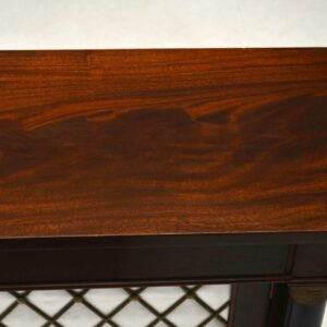 Antique Regency Style Mahogany Grill Front Cabinet