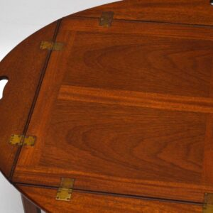 Antique Georgian Style Mahogany Butler's Tray Coffee Table