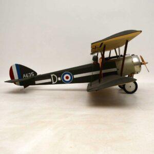 Antique Vintage RAF Model Fighter Biplane