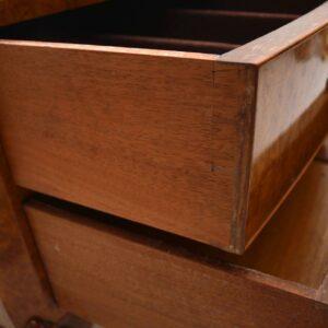 Antique Burr Maple Console / Server Table
