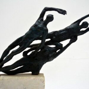Antique / Mid-Century Bronze Sculpture of Swimmers