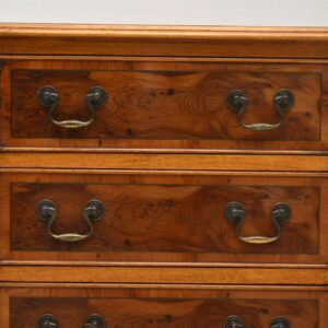 Pair of Antique Yew Wood Bedside Chests
