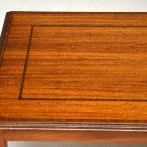 Antique Inlaid Mahogany Coffee Table