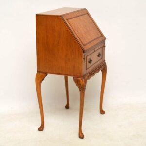 Small Antique Burr Maple Writing Bureau