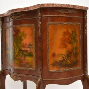 Antique French Marble Top Side Cabinet