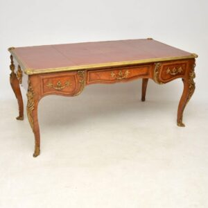 Large Antique French Gilt Bronze Mounted Kingwood Desk