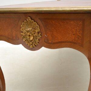 Large Antique French Gilt Bronze Mounted Kingwood Desk
