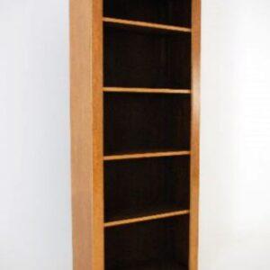 Antique Victorian Style Birds Eye Maple Open Bookcase