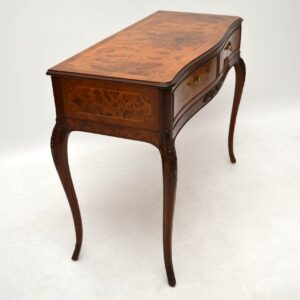 Antique French Inlaid Walnut & Rosewood Console Table
