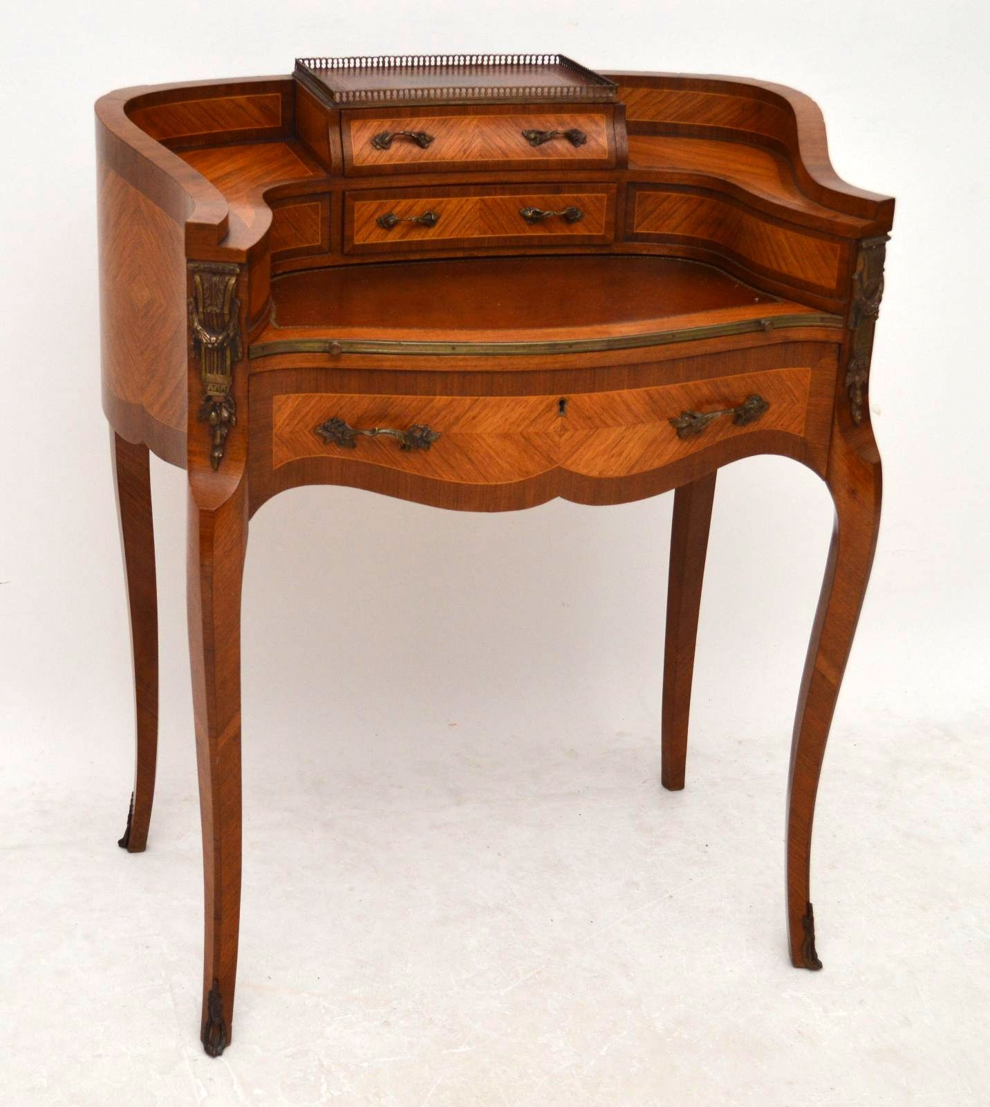 Antique French Bonheur Du Jour Writing Table Desk