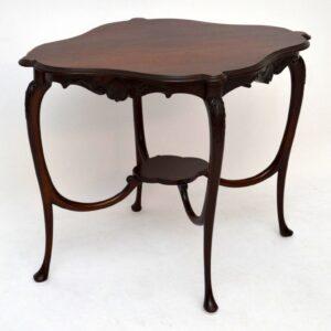 Antique Art Nouveau Mahogany Occasional Table