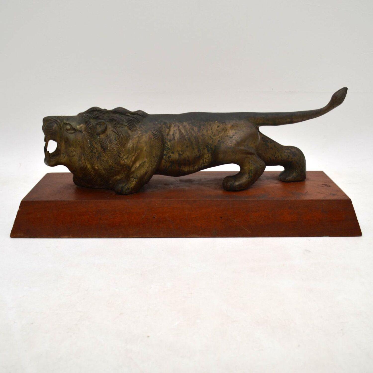 Antique Bronze Sculpture of a Lion
