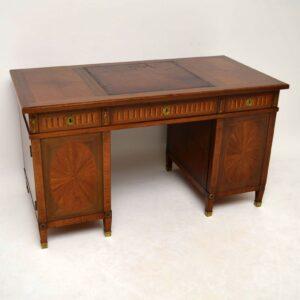Antique Georgian Style Burr Elm Revolving Bookcase