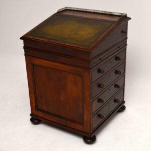 Antique William IV Mahogany & Leather Davenport
