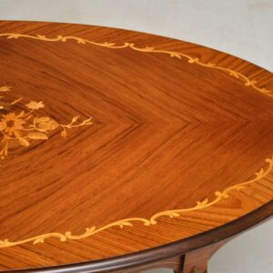 Antique French Inlaid Rosewood Coffee Table