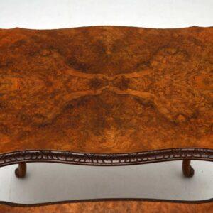 Antique Burr Walnut Nest of 3 Tables