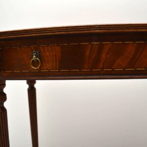 Antique Regency Style Mahogany Console / Side Table