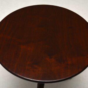 Antique George III Mahogany Birdcage Tripod Table