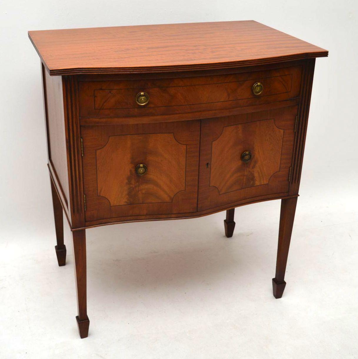 Antique Inlaid Mahogany Cabinet on Legs