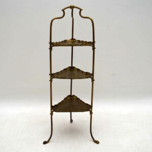 Antique Brass Cake Stand by Samuel Heath & Sons