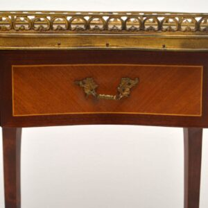 Antique French Marble Top Kidney Side Table
