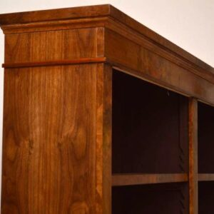 Reconstructed Antique Victorian Walnut Open Bookcase
