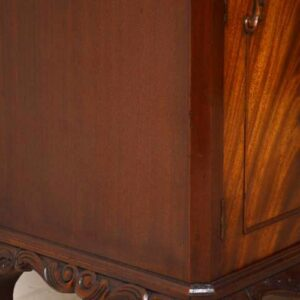 Gorgeous Antique Queen Anne Style Flame Mahogany Cocktail Cabinet