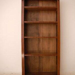 Antique Reconstructed Mahogany Open Bookcase