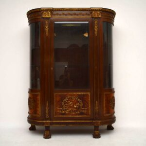 Antique French Ormolu Mounted Mahogany Display Cabinet