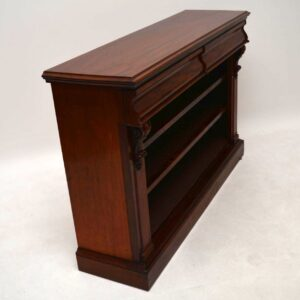 Antique Mahogany Open Bookcase Cabinet
