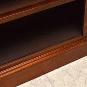 Antique Hard to Find Victorian Burr Walnut Open Bookcase