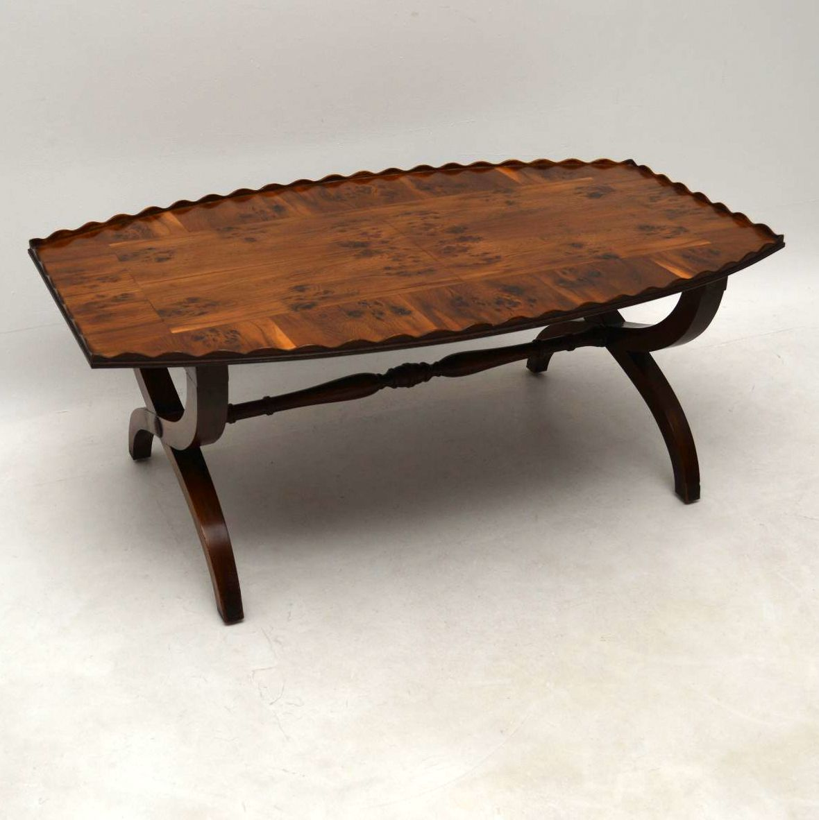 Antique Yew Wood & Oyster Veneer Coffee Table