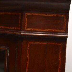 Antique Edwardian Inlaid Mahogany Corner Cabinet