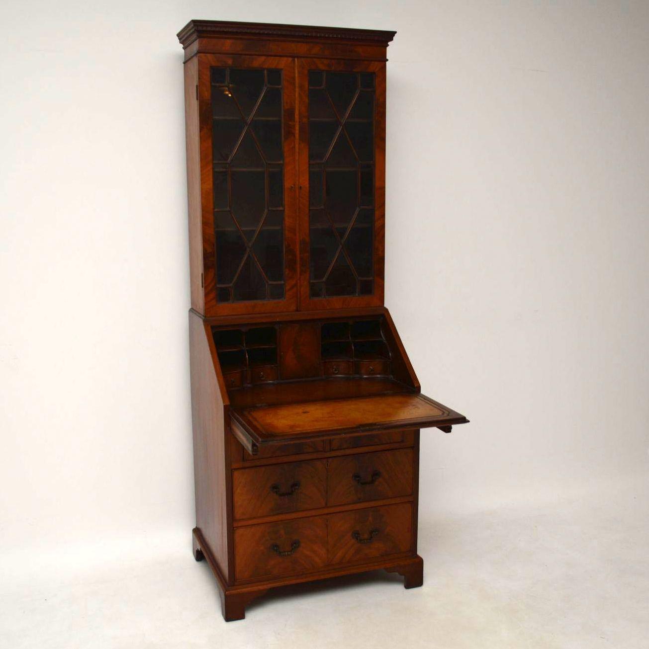 Antique Mahogany Bureau Bookcase