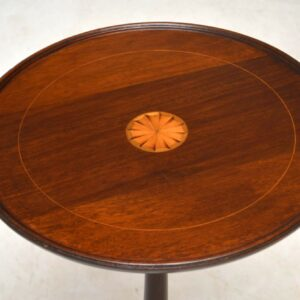 Antique Inlaid Mahogany Wine Table
